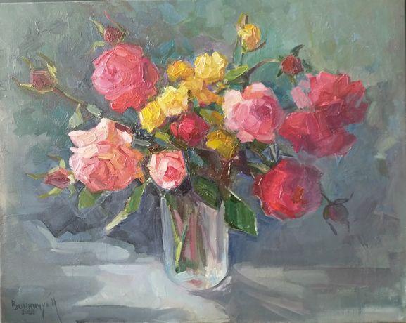 Картина Последние розы, холст/масло, 40*50