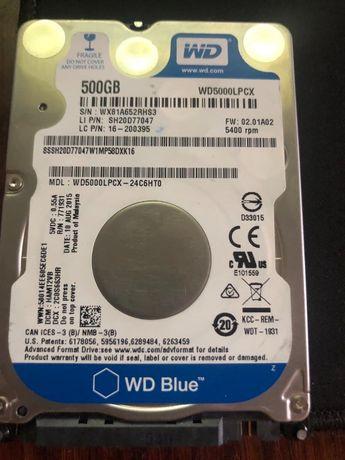 Жесткий диск для ноутбука 2.5 WD Blue 500gb