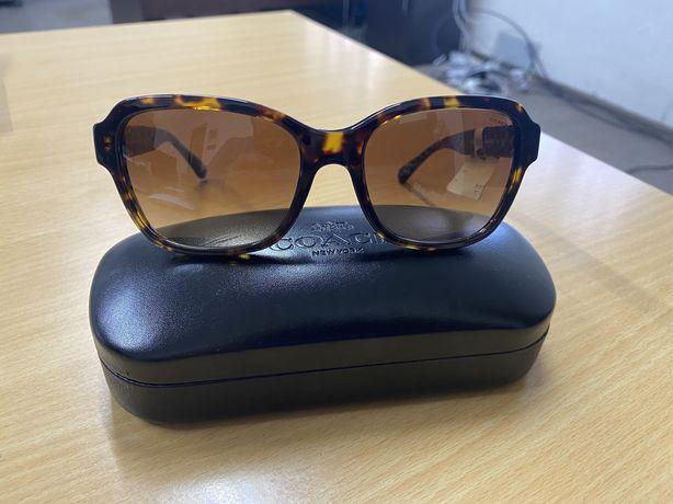 COACH солнцезащитные очки Sunglasses - Dark Tortoise !НОВЫЕ! ОРИГИНАЛ!