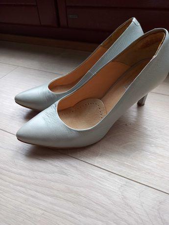 Skórzane szpilki buty Lasocki