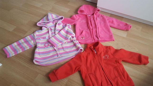 Bluza polar z kapturem roz 74-80
