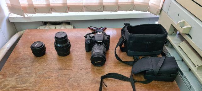 Продам профессиональный фотоаппарат Canon EOS 600D + 3 объектива