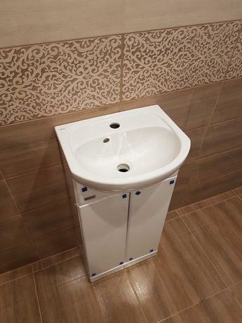 Szafka z umywalką Koło Solo 40 cm biała