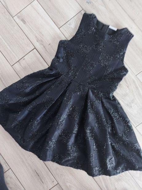 Granatowa sukienka okolicznościowa wizytowa święta  sylwester 134cm140
