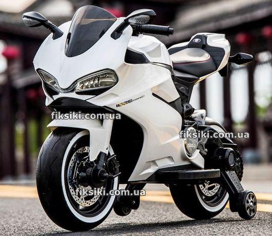 Детский электромобиль мотоцикл M4104 ел белый, Дитячий електромобiль