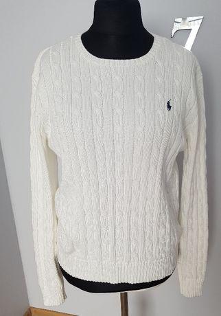 Sweter warkocz Ralph Lauren XL