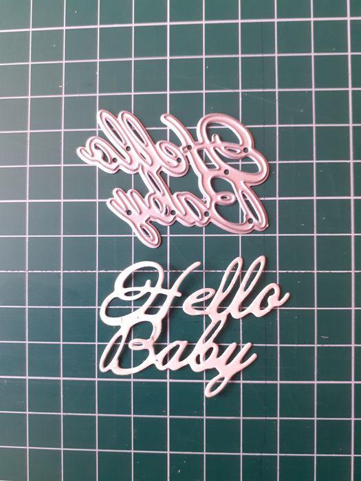 Wykrojnik napis HELLO BABY Krapkowice - image 1