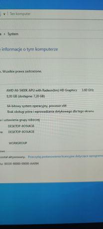 Komputer do nauki i gier (AMD A6-5400k / 8gb ram/ 120ssd/ 500hdd)