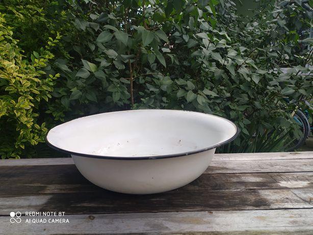 Biała miska emaliowana duża balia 60cm
