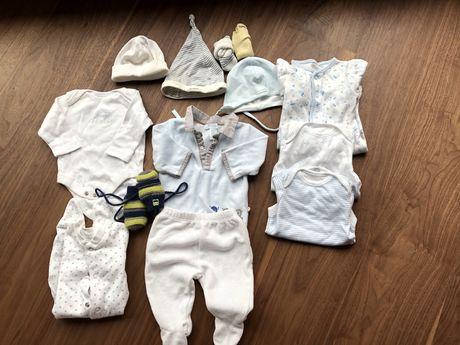 Komplet zestaw niemowlecy 50 ubranka F&F newbie mothercare