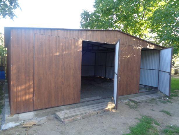 Garaż 7x5 ORZECH,Drewnopodobny , PRODUCENT