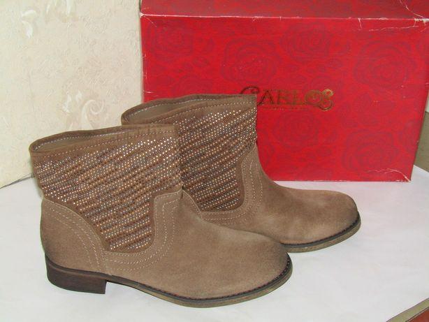 Замшевые ботинки Carlos Santana