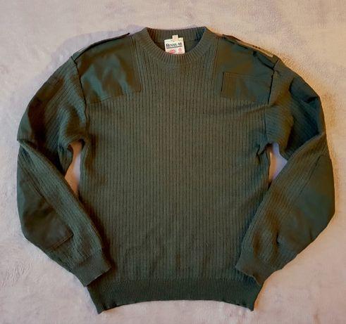 sweter mysliwki/ militarny khaki 80% welna