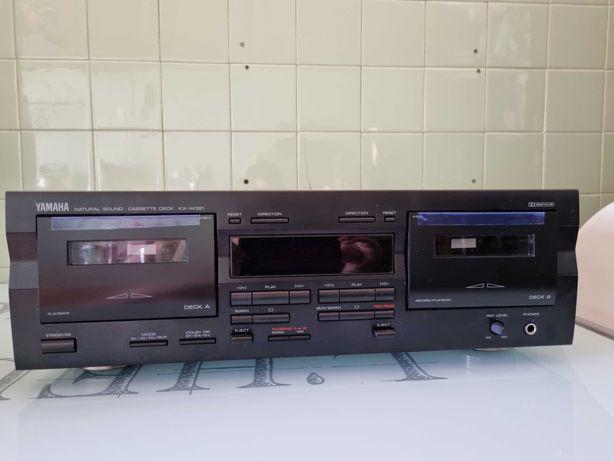 Deck duplo cassetes yamaha kx-w321