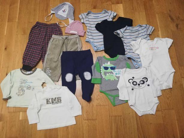 Ubranka dla chłopca w różnych rozmiarach