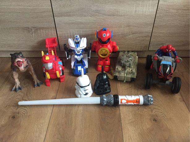 Zabawki dla chlopca. Robot. Transformers. Spider man.