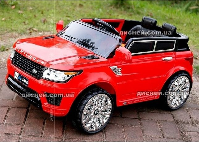 Детский электромобиль 2775 RED Land Rover, кожаное сиденье, MP3..