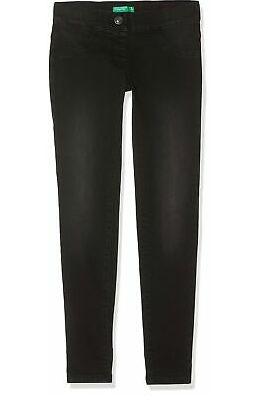 Spodnie dziewczęce, czarne - BENETTON - r. 150 cm