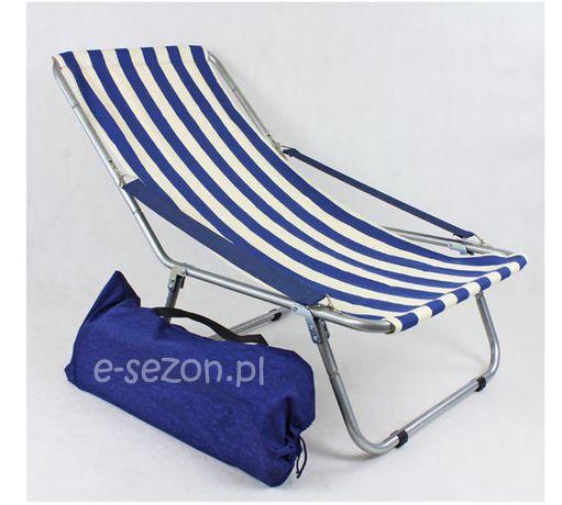 Leżak plażowy składany do torby, aluminiowy, MAX 130 kg