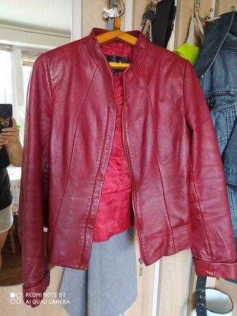 Кожаный пиджак 46р за символическую цену