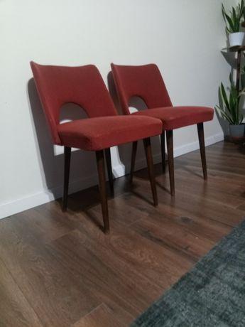 Krzesła muszelka PRL vintage retro patyczak