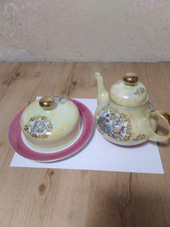 Чайник с десертницей германские