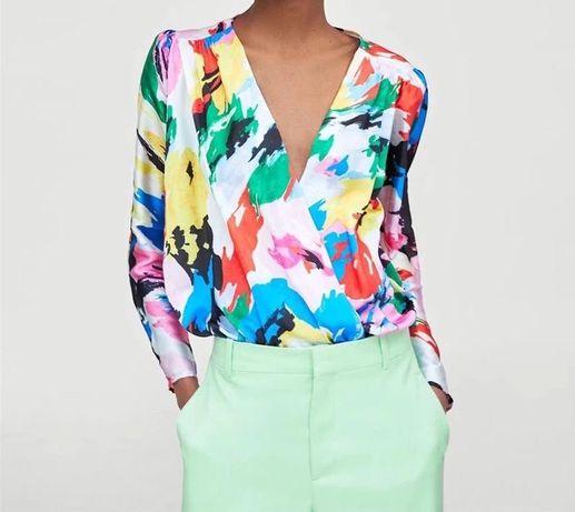 Блуза боди разноцветная размер S