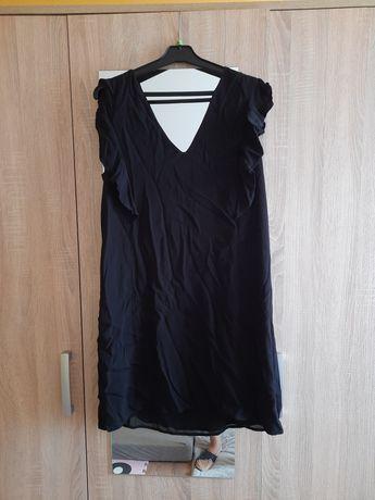 Sukienka czarna wiązana