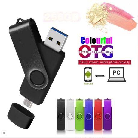 Флешка usb micro usb 2в1 для телефона компьютера