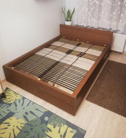 Łóżko 140x200 MALM jesion z 2 pojemnikami