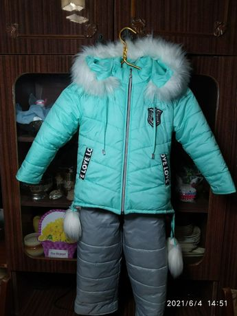 Продам зимний костюм для девочки.