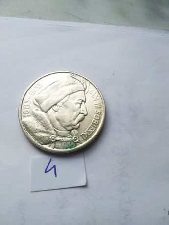 Moneta--10zł Sobieski--1933--D11--srebro--