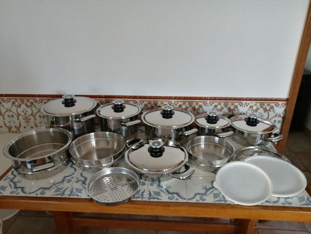 THERM-O-FORTE - Conjunto de Panelas em Aço Inoxidável