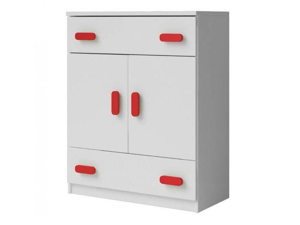 Mała biała komoda z szufladami do pokoju dziecięcego, 80 cm