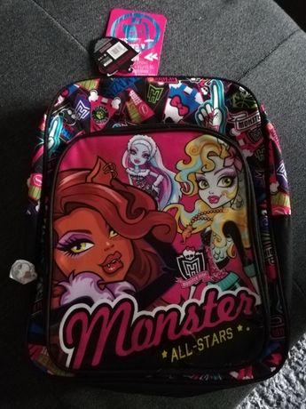 Nowy Plecak Monster High All Stars Średni Szkoła Dziecko W-Wa Bemowo
