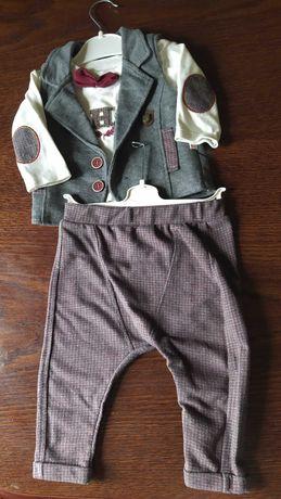 Zestaw dla małego eleganta r 74: spodnie i kamizelka GRATIS bluzka