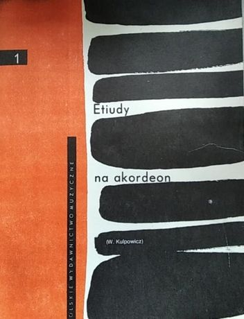 Etiudy na akordeon 1 - W. Kulpowicz PWM 1985 r. nuty