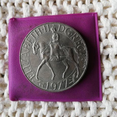 moneta Elizabeth II DG REG FD 1977.