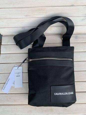 Мужская сумка Calvin Klein мессенджер.Барсетка через плечо для мужчин