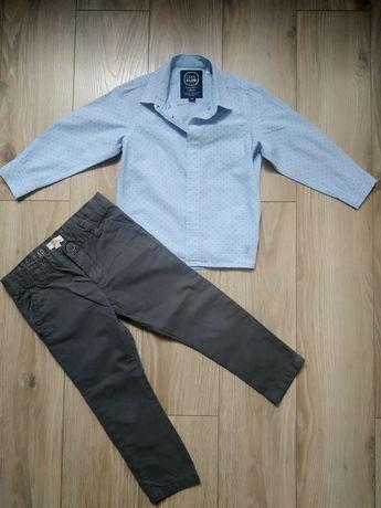 Zestaw elegancka koszula plus spodnie r. 98