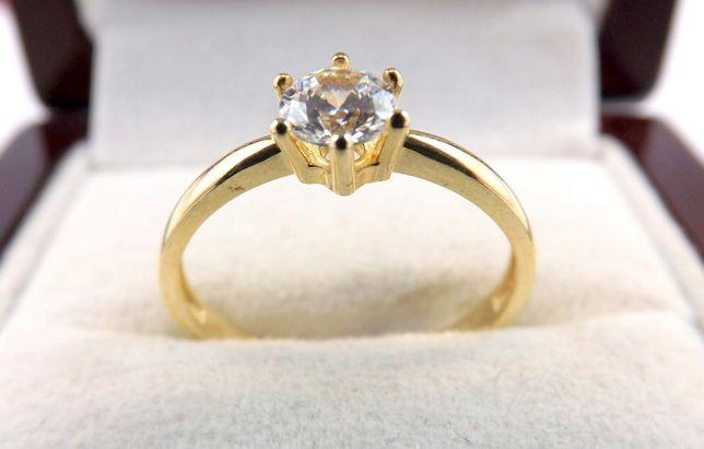 Prześliczny złoty pierścionek 1,90 G 585 R.15,5