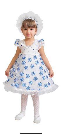 карнавальный костюм карнавальное платье снежинка purpurino