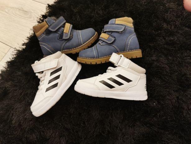 Sprzedam buty jesienne chłopięce rozmiar 22 cena 100zł za dwie pary