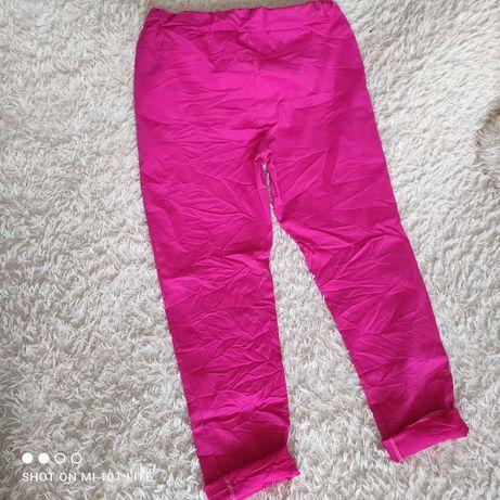 Spodnie fuksja gnieciuchy
