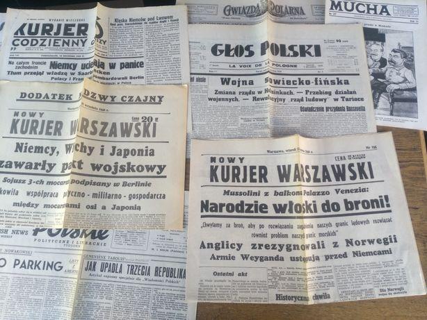 Gazety 2 wojna światowa reprinty 1939, 1940, 1941,1942, 1943