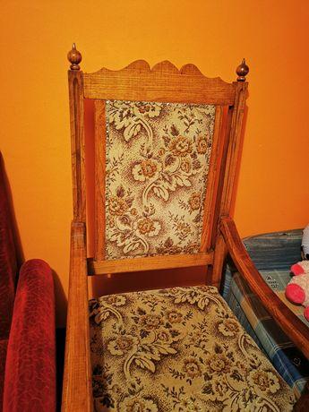 Wielki fotel tron krzesło antyk drewno kolekcjonerski drewniany stary