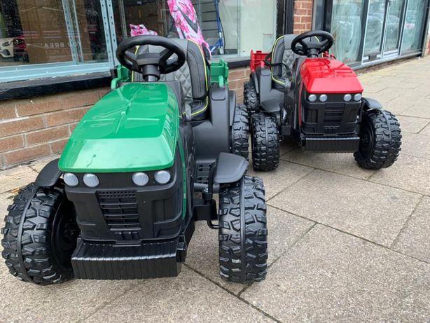 MEGA Traktorek elektryczny - Miękkie koła EVA + PILOT dla dziecka