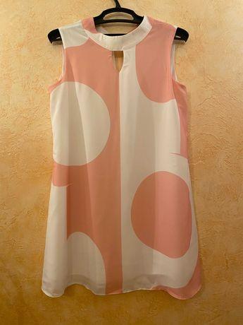 Платье на Лето / Легкое Платье / Свободное Платье / Размер 44