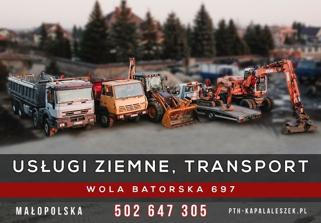 Koparka, koparko-ładowarka, dziobak, minikoparka, transport budowlany.