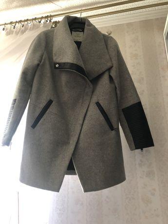Płaszcz płaszczyk szary z wełną